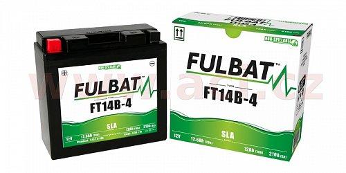 baterie 12V, FT14B-4 SLA, 12,6Ah, 210A, bezúdržbová MF AGM 184x124x170, FULBAT (aktivovaná ve výrobě)