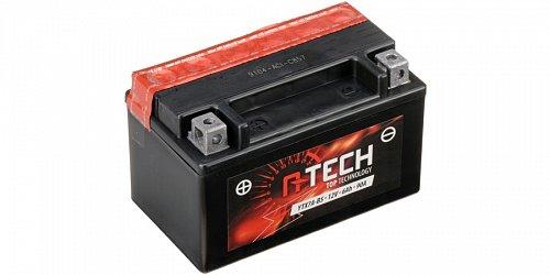 baterie 12V, YTX7A-BS, 6Ah, 90A, bezúdržbová MF AGM 150x87x94, A-TECH (vč. balení elektrolytu)
