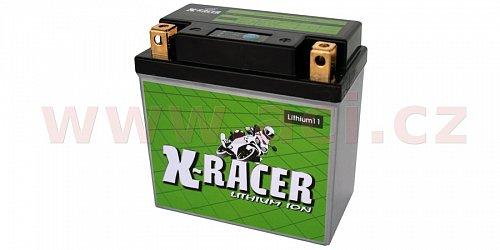 lithiová baterie 11 X-RACER 12V, 20A, 260 CCA, 0.83 kg,134x75x133 mm nahrazuje typy:(CBTX14AHL-BS, CBTX14L-BS, CB14L-A, 12N14-3A)