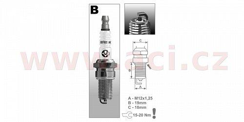 zapalovací svíčka BBR12C řada Super, BRISK - Česká Republika
