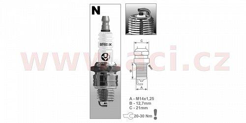 zapalovací svíčka NR14C řada Super, BRISK - Česká Republika