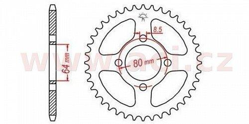 ocelová rozeta pro sekundární řetězy typu 420, JT - Anglie (41 zubů)