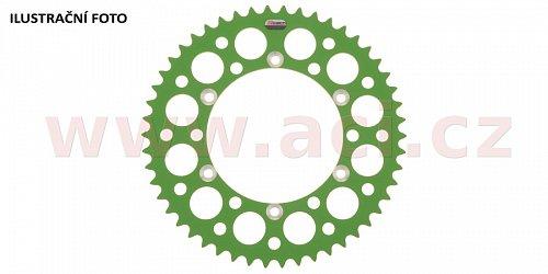 duralová rozeta pro sekundární řetězy typu 520, Q-TECH (zelený elox, 50 zubů)