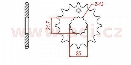 řetězové kolečko pro sekundární řetězy typu 520, Q-TECH (14 zubů)