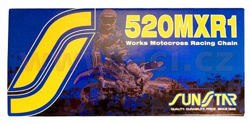 řetěz 520MXR1, SUNSTAR (bezkroužek, barva zlatá, 114 článků)