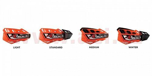 kryty páček FLX ATV, RTECH (červené odst. Honda CRF, 4 varianty v 1, vč. montážní sady, průměr konusu 14 a 18 mm)