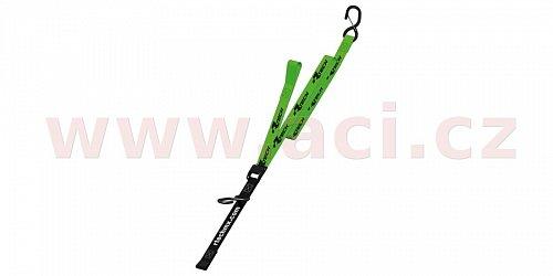 upínací popruhy s rychloupínací spojkou (šířka 38 mm / délka 2 m / nosnost 550 kg), RTECH (1 pár, zelený)