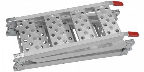 nájezdová rampa - skládací - hliníková třídílná, Q-TECH (1 ks)