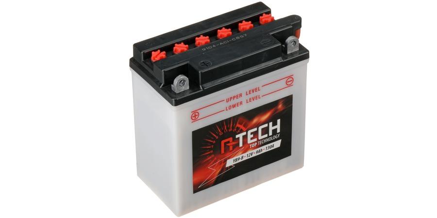 baterie 12V, YB9-B, 9Ah, 130A, konvenční 135x75x139 A-TECH (vč. balení elektrolytu)