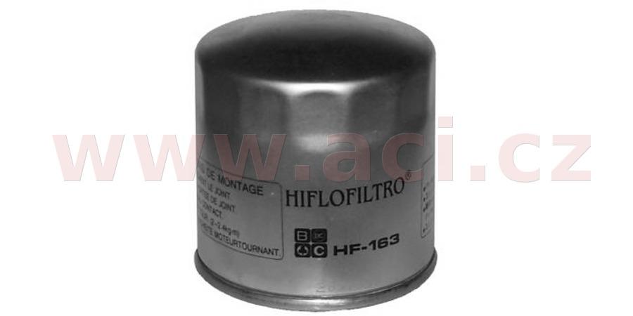 Olejový filtr HF163, HIFLOFILTRO (Zink plášť)