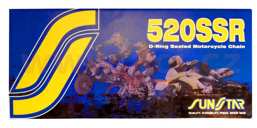 řetěz 520SSR, SUNSTAR (o-kroužek, barva černá, 114 článků)