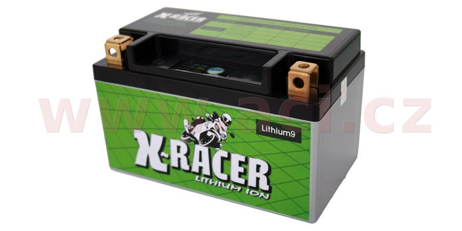 lithiová baterie 9 X-RACER  12V, 18Ah, 210A, hmotnost 0.9kg, 150x87x93mm nahrazuje typy: (CBTX12-BS, CT12A-BS, CB12B-B2)